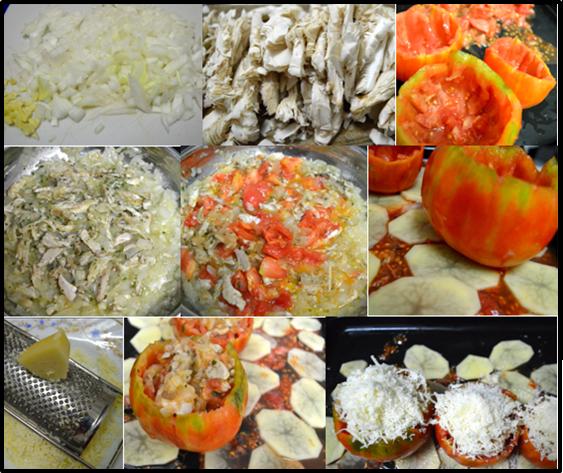 tomates rellenos de setas